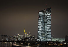 New ECB in Frankfurt. New office building of the European Central Bank (ECB) in Frankfurt royalty free stock images