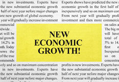 New economic growth ad Stock Photography