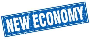 New economy square stamp Royalty Free Stock Photo