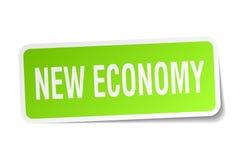 New economy square sticker Stock Image