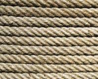 New ecru rope  closeup in sun Royalty Free Stock Photography