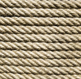 New ecru rope  closeup in sun Royalty Free Stock Images