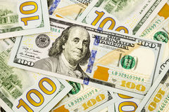 New edition 100 dollar banknotes, currency for inflation and eco Stock Photography