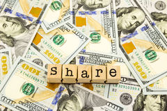 New edition 100 dollar banknotes, money for share and donation c Stock Images