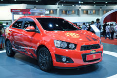 New Edition of Manchester United car of Chevrolet Royalty Free Stock Photos