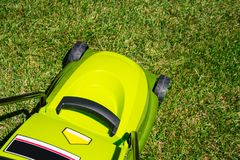 Electrical lawn mower Stock Photos