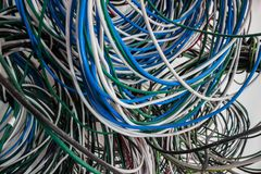 New Electrical Wiring Background. Royalty Free Stock Photos