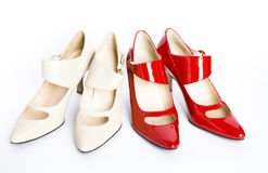 New elegant  shoes on a high heel Royalty Free Stock Photos