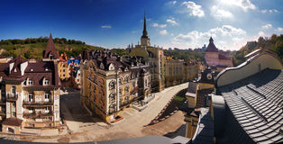 New elite Kiev quarter- Vozdvizhenka Stock Photos