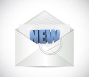 New email illustration design Stock Photography