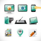 New emerald icons collection Royalty Free Stock Image