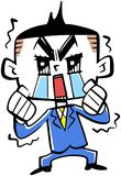 New employee crying. Image of a new employee crying Stock Image