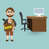 New employee in the office for new job Royalty Free Stock Photos