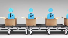 New employees conveyor animation