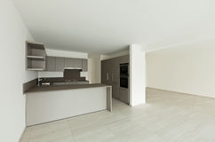 New empty apartment, kitchen Royalty Free Stock Photography