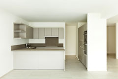 New empty apartment, kitchen Royalty Free Stock Photo