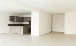 New empty apartment, kitchen royalty free stock image
