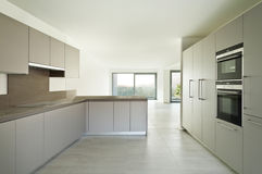 New empty apartment, kitchen royalty free stock photos