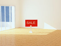 New empty apartment for sale Stock Photography