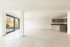 New empty apartment, wide room Royalty Free Stock Photos