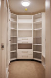 New Empty Closet. Details of big and new empty wooden closet stock photography