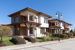New and empty houses. Perfect neighborhood Royalty Free Stock Images