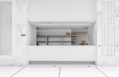 New empty pharmacy in a hospital Royalty Free Stock Photos