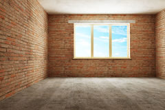 New empty room 3d Stock Photo