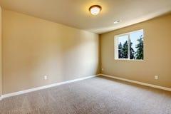 New empty room with beige carpet. Stock Photo