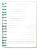 New empty striped notebook Royalty Free Stock Photography