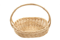 New empty wicker basket Stock Images