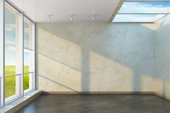 New emty office room. 3d rendering Stock Images