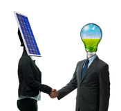 New energy agreement royalty free stock photo