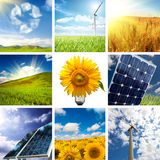 New energy collage. New energy concept with collage of various photo Stock Image