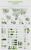 New Energy e manifesto elettrico del modello di infographics di Transpostation Immagini Stock