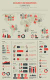 New Energy et affiche électrique de calibre d'infographics de Transpostation Image libre de droits