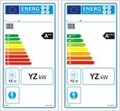 New energy rating graph label Royalty Free Stock Photos