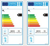 New energy rating graph label Stock Images