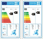 New energy rating graph label Royalty Free Stock Image
