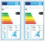 New energy rating graph label Royalty Free Stock Photography