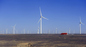 New energy source of wind power windmills Stock Image