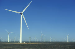 New energy source of wind power windmills Stock Photography