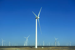 New energy source of wind power windmills Stock Images