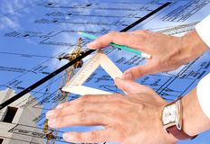 New energy technology  in construction Royalty Free Stock Image