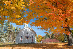 New Engand Church in Autumn Royalty Free Stock Images