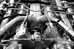 New engine closeup royalty free stock images