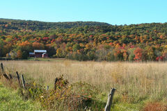 New England Autumn. Scenic farm scene in New England Stock Image