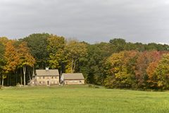 New England, Autumn. Farm House in the country of  New England, Connecticut, USA Stock Photo