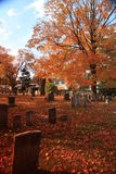 New England Autumn Graveyard 02 Royalty Free Stock Photo