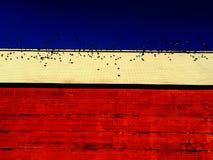 New England Barn With Birds Stock Photo